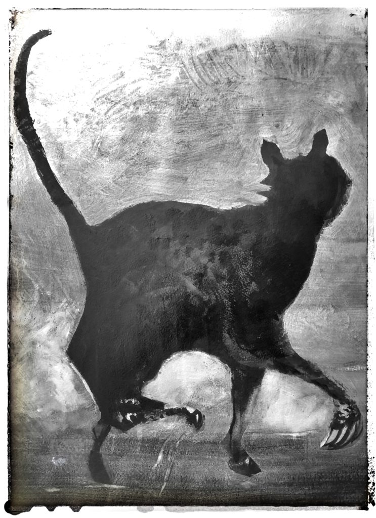 Painting Strutting cat